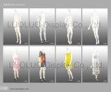 Attraktives weibliches Mannequin mit Kleid