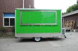 De groene Vrachtwagen van het Voedsel van de Kleur voor Verkoop de V.S.
