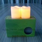 Romantisches kleines schönes flackerndes Pfosten Flemeless LED Votive Kerze-Licht mit Batterie umfaßte
