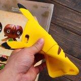 Caixa encantadora do silicone do teste padrão da forma 3D de Pikachu para o iPhone