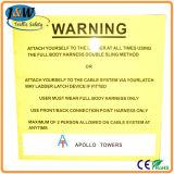 Cctv-Sicherheitswarnung-Aluminium 24 Stunden videoüberwachung-Zeichen-