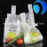 Alimentation de qualité Emballage biodégradable T-shirt en plastique Sac alimentaire