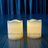 Luz Votive de cintilação bonita pequena romântica da vela do diodo emissor de luz de Flemeless da coluna com a bateria incluída