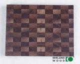 アメリカのクルミの固体まな板の端の穀物
