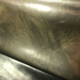 Кожа PVC PU модного золотого песка 2017 синтетическая для ботинок (E6084)