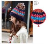 Шлемы Beanie Snapback женщин связанные Custome с цветами высокорослых шариков смешанными