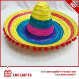 熱い販売の昇進のギフトのためのしまのあるソンブレロの麦わら帽子