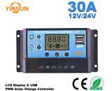 20A 12V/24V PWM Solarladung-Controller, LCD-Bildschirmanzeige-Sonnenkollektor-Ladung-Batterie