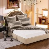 Taihuの雪の絹の優雅シリーズOeko-Tex 100の標準絹の継ぎ目が無い寝具19momme実質の贅沢なSpaldingの灰色の純粋なクワ絹シートセット