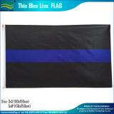 USA-Polyester-kennzeichnet dünne blaue/rote Zeile Polizei-Markierungsfahnen (B-NF01F09038)