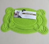 cuvette Placemat d'assiette de nourriture de chiot de crabot de couvre-tapis de litière du chat d'animal familier de PVC de 38*58cm