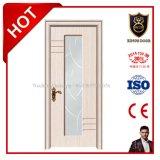 Двери дешевого ламината интерьера деревянные с стеклом