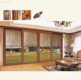 Дверь сползая стекла роскошного балкона алюминиевая с деревянным цветом (pH-8805)