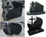 European Customized Carving Granite Cross Slab Monuments