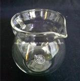 Tazas de té de cristal transparentes a prueba de calor con la maneta