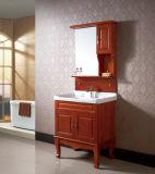 Vanité en céramique de salle de bains de salle de bains de chêne fixé au sol de Furinture