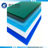 Hoja hueco azul de la azotea de la PC del policarbonato del lago