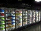 cabina de visualización de cristal grande de la puerta de 2000L Volum para los alimentos congelados