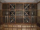 Погреб погреб роскошного тимберса мебели твердого деревянный винный с шкафом вина