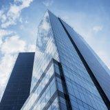 Vidrio reflectante para material de construcción con color claro / bronce / verde / azul