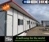 Ayunan las casas prefabricadas móviles construidas del panel de emparedado