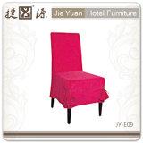 結婚式(JY-E09)のための一義的な食事の椅子カバースカート