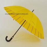 guarda-chuva reto durável aberto do manual 24k (YS-S008G)