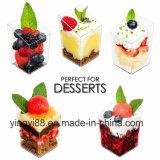 工場直売の小型デザートのコップ