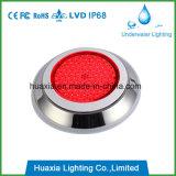 Luz enchida resina da lâmpada da piscina do diodo emissor de luz do aço inoxidável