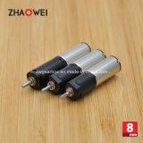 8mm hohe Leistungsfähigkeit 4.2V kleiner schwanzloser Gleichstrom-Gang-Motor
