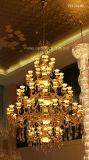 Phine extravaganter Kristall u. Jade-hängende Lampe/Leuchter für Landhaus oder Hotel