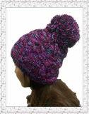 Projetar o tampão do Beanie do Weave do jacquard/chapéu feitos malha Crochet (1-3461)