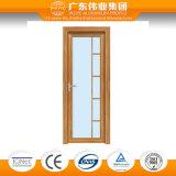 Imperméabiliser la porte de salle de bains de toilette de bâti d'alliage d'aluminium d'oscillation