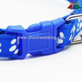 Collare di cane registrabile stampato di alta qualità del poliestere di Caldo-Vendita 15mm con piccola Bell