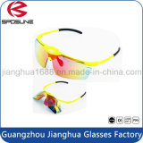 Grampo quente de Polariod do vintage em óculos de proteção de segurança por atacado de ciclagem do laser da aleta dos óculos de sol da bicicleta do desenhador do tipo de China dos vidros