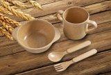 BPA libèrent la vaisselle de cosse de riz réglée pour les gosses (BC-CS1090)