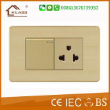 Aufgetragene goldene Aluminiumfarben-Handelsheller Schalter-Innenkontaktbuchse
