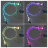 1m 다채로운 LED 가벼운 보편적인 인조 인간 V-8 마이크로 데이터 충전기 USB 케이블