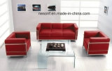 Acero inoxidable muebles de oficina de cuero Esperando Oficina Sofá (NS-2328A)