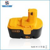 Reemplazo 18V 3000mAh Ni-MH, Ryo-18 de la batería de la herramienta eléctrica para Ryobi