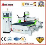 Máquina de madeira do CNC do ATC do eixo refrigerar de ar da gravura 9kw Hsd da estaca da elevada precisão 1500*3000mm