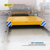 Carro de plataforma de aço de transferência do uso da oficina nos trilhos