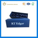 Boîte-cadeau de papier de fantaisie de papier cartonné de garniture intérieure de tissu de satin (avec le clinquant de logo)