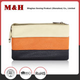 Sacs à main portatifs de cuir de sac à provisions de pistes horizontales Three-Color
