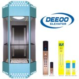 Elevador panorâmico do melhor elevador de vidro comercial quente da venda do preço