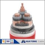 O PVC da isolação de 0.6/1 quilovolts XLPE levantou o cabo distribuidor de corrente blindado 4*35+16 de fio de aço