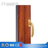 Finestra termica insonorizzata della stoffa per tendine della rottura della lega di alluminio di colore di legno