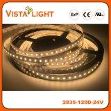 SMD2835 24V Waterproof tiras da luz do diodo emissor de luz para hotéis