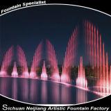 Bunter Fluss-Licht-Brunnen