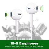 Fones de ouvido com Mic estereofónico & de controle remoto, branco